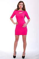 Эфектное платье ярко-малинового цвета, фото 1