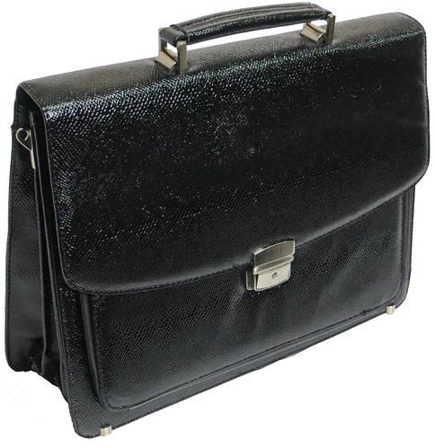 Оригинальный мужской портфель из искусственной кожи под змею черный B7808 black