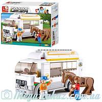 Конструктор Sluban (Слубан) Машина для перевозки лошадей: 170 деталей, 2 фигурки