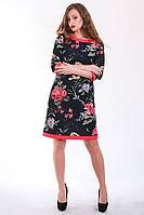 Оригинальное платье в цветочный принт, фото 1