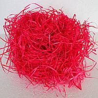 Древесная стружка для декора (красный)