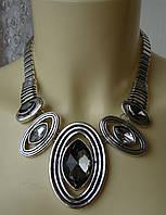 Ожерелье колье модное стильное массивное металл ювелирная бижутерия 5983