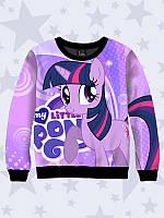 Очаровательный свитшот Twilight Sparkle с принтом персонажа известного мультсериала.