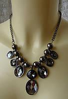 Ожерелье колье с подвесками стильное элегантное металл ювелирная бижутерия 5985