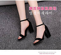 Красивые босоножки на удобном каблуке, 2 цвета