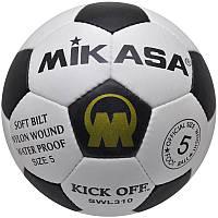 Качественный кожанный мяч футбольный MIKASA SWL310