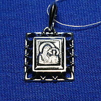 Ладанка на шею Богородица серебро 925 пробы 37809-ч