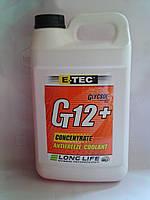 Антифриз E-TEC G12+ концентрат п/е 4л (червоний)
