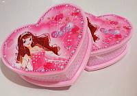 Шкатулка 6031-2 музыкальная с балериной и зеркалом розовая