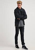 Легкая куртка на флисе темно серого цвета Skander от !Solid (Дания)  в размере L
