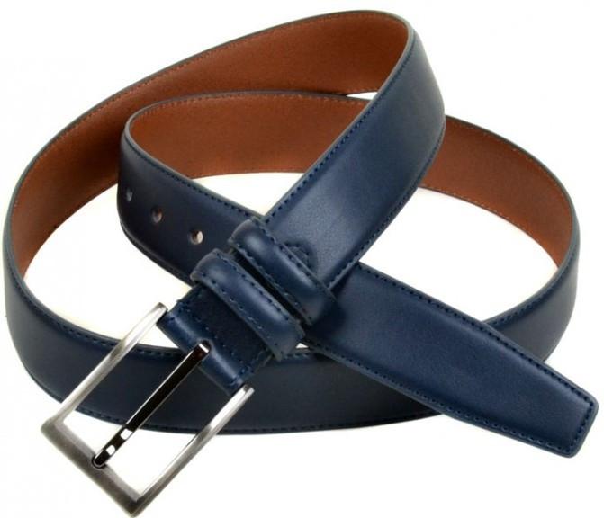 Очаровательный мужской кожаный ремень E352445 blue