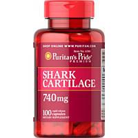 Акулий Хрящ.  Puritan's Pride - USA  Shark Cartilage 740 mg 100caps.