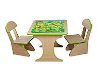 Игровой детский столик и два стульчика Финекс