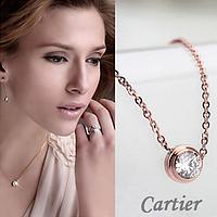 Ожерелье Cartier с цирконием. Позолота 18K. Лучший подарок для любимой!