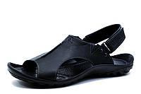 Сандалии кожаные мужские Gekon Quantun, черные крейзи, р. 40 41 42 43 44 45