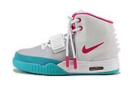 Женские кроссовки Nike Air Yeezy 2, высокие кроссовки найк аир изи 2 белые
