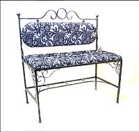 Кованый диван со спинкой