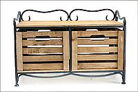 Кованая этажерка (полка металлическая) 2 горизонтальная