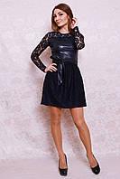 Роскошное вечернее платье из гипюра с пышной юбкой