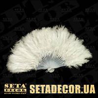 Белый веер из перьев и пуха