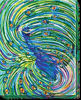 Набор для вышивки бисером на холсте «Изумрудный вихрь»