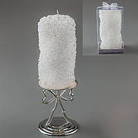Свадебная свеча  резная в розочках