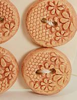 Пуговица цвета моран декоративная керамическая ручной работы