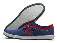 Кеды мужские Tommy Hilfiger синие с красным (томми хилфигер)