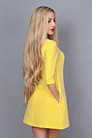Короткое желтое платье 237-7, р 42-48