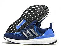 Кроссовки женские Adidas Ultra Boost синие с голубым (адидас)