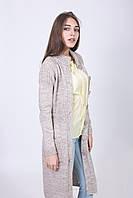 Длинный женский кардиган с накладными карманами, фото 1