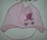 """Нарядная шапка для девочки """"Атласный мишка"""""""