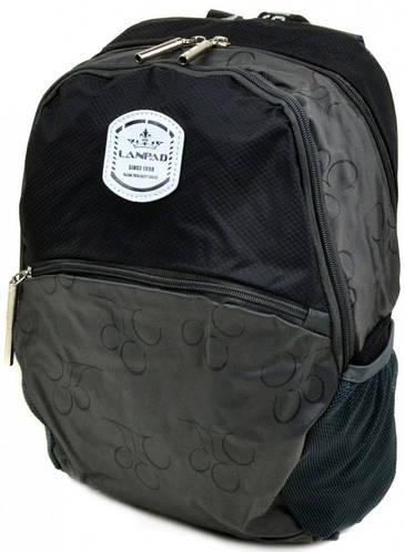 Стильный городской рюкзак с отделением для ноутбука текстиль Lanpad 14 л. 3380-1 black