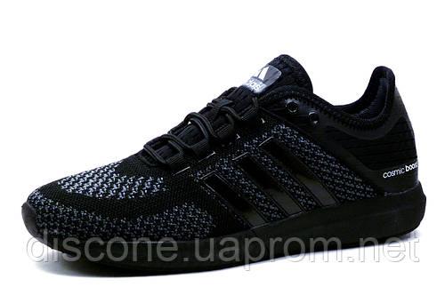 Кроссовки мужские Adidas Cosmic Boost, текстиль, черные