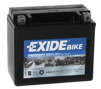 Аккумулятор гелевый мото 10Ah 150A EXIDE SLA12-10 = AGM12-10 для Honda , Yamaha , Kawasaki , Gilera , Aprilia