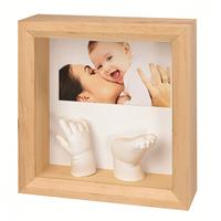 Рамка для слепков ручек и ножек Baby art Photo Sculpture, натуральная