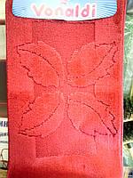 Набор ковриков в ванную и туалет красный производство Турция