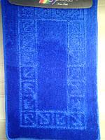 Набор ковриков для ванной и туалета синий производство Турция