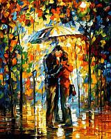 Картины по номерам 40×50 см. Поцелуй под зонтом худ Афремов, Леонид