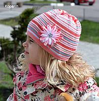 """Цветная шапочка для девочек """"Радуга"""""""