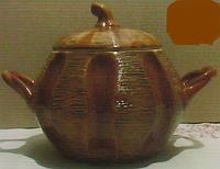 """Супник глиняный с ручками 3,5 л. """"Обжорка"""""""