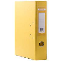 Папка регистратор для документов  А4 Buromax 5см  желтый