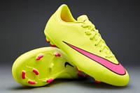Детские футбольные бутсы Nike Mercurial Victory V FG Junior Lemon