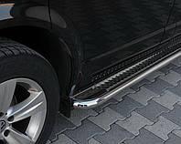 Пороги боковые Volkswagen Transporter (фольксвагкн Т5) (03-10),d60 нерж. premium