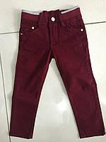 Детские штаны на резинке бордовый, одежда для мальчиков 98-122