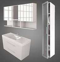 Комплект мебели для ванной Barbados 120 Буль-буль белый