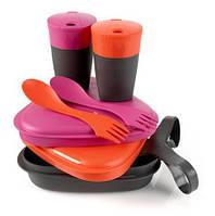 Набор посуды для двоих LIGHT MY FIRE Pack'n Eat Kit Fuchsia/Orange (LMF 50689340)