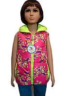 Детская жилетка в модный цветочный принт, фото 1