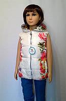Жилетка для девочки с цветочным принтом, фото 1