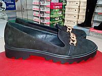 Туфли замшевые на тракторной танкетке LEXI.